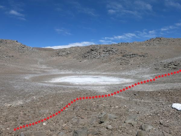 Ultima sección antes del sendero que lleva a la cumbre