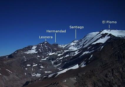 Punta Santiago y cumbres cercanas