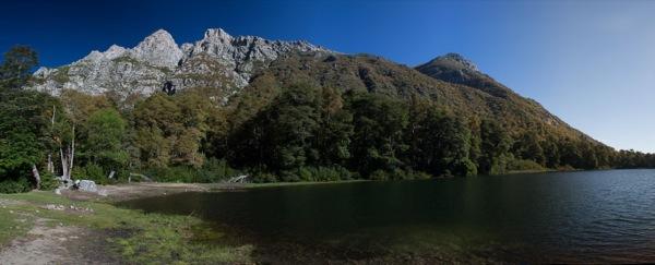 Laguna la Plata desde el lugar de campamento