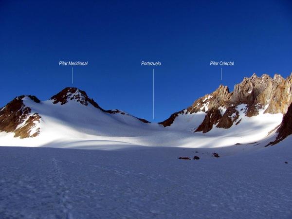 Campamento y acceso al glaciar Cortaderal.