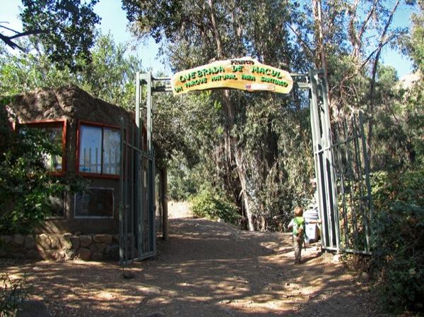 Portón de ingreso al bosque