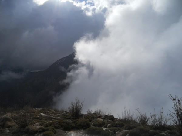 Alto del Gusano desde campamento el  Roble