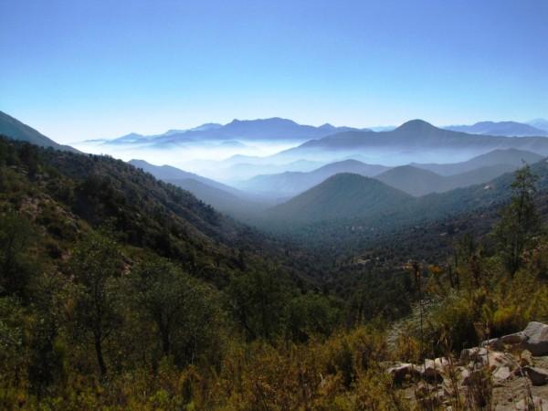Vista hacia el valle de Ocoa