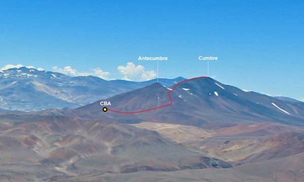 Ruta Chilena desde V. Copiapó