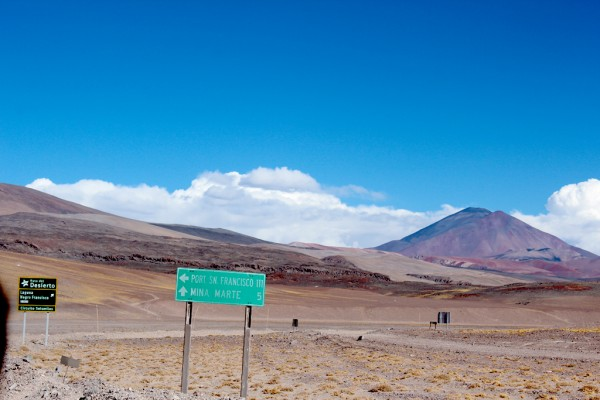 Vista norte del Volcán los Patos