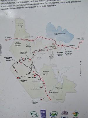 Mapa en la entrada