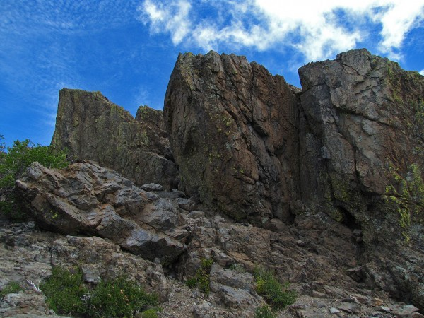 Punta rocosa de la cumbre