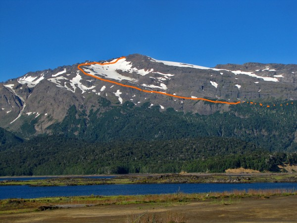 Sierra Nevada desde lago Conguillío