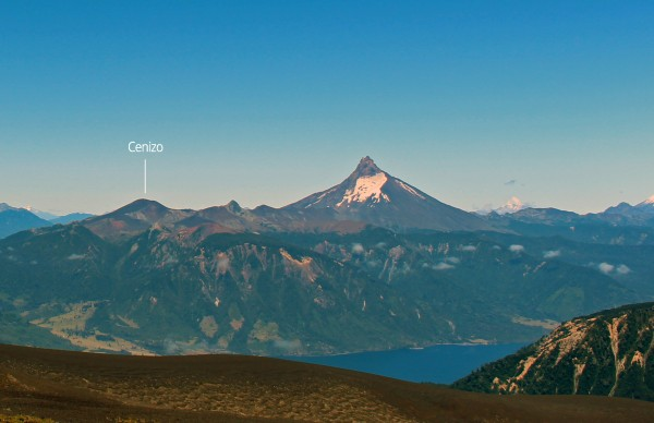 Cenizo y volcán Puntiagudo