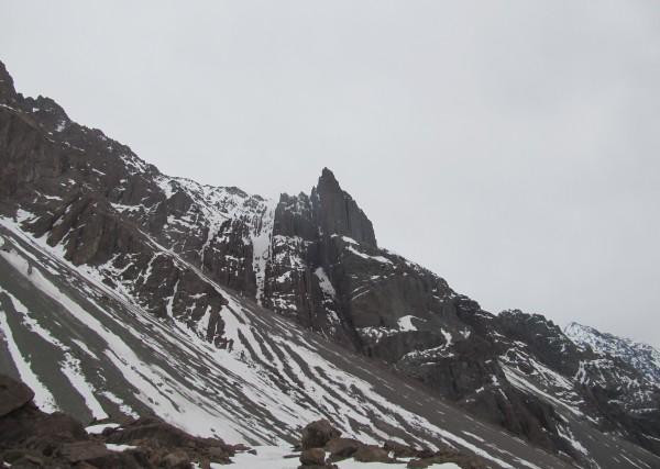 Punta Zanzi en día invernal