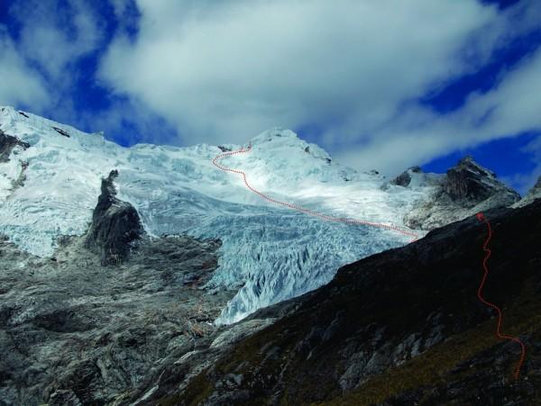Ruta oeste el Nevado Yanapaccha