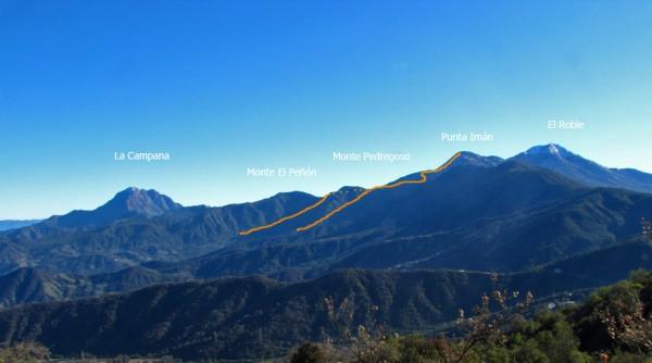 Ruta vista desde el cerro Vizcachas