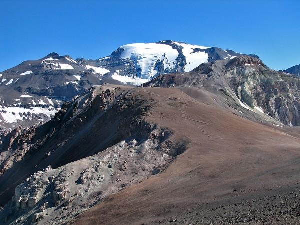 Vista de la ruta desde la base del cerro Parva