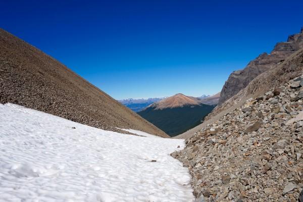 Nieve en parte alta del paso El Peñón
