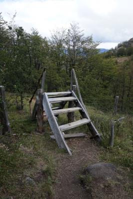 Escalera para pasar cerco