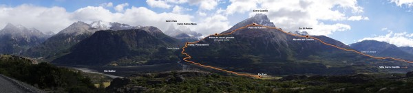 Panorámica completa de la ruta