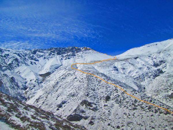 Sección final de la ruta