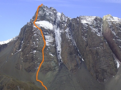Ruta directa pared Sur