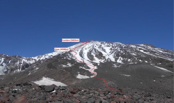 Vista desde el primer plateau