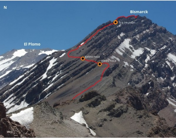 Detalle de la ruta desde el paso del Cepo