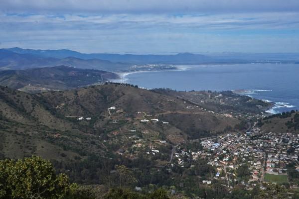 Vista hacia la costa desde el segundo mirador
