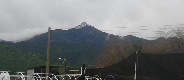 Cumbre de La Campanita nevada