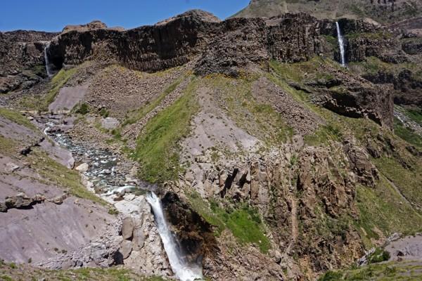 Vista desde el mirador de las cascadas