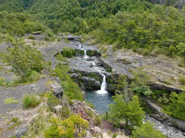 Vista a las cascadas del Pichi Turbio
