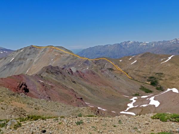 Vista general de la ruta desde el campamento