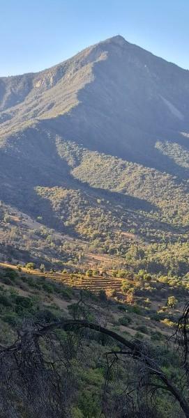 Vista desde la cumbre al Cerro El Chivato