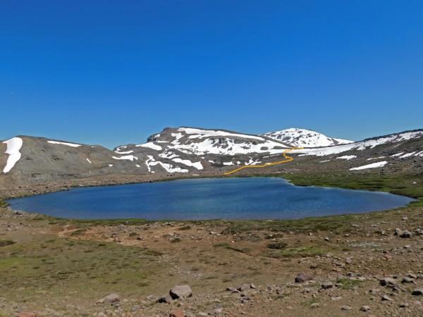 Vista de la laguna Verde