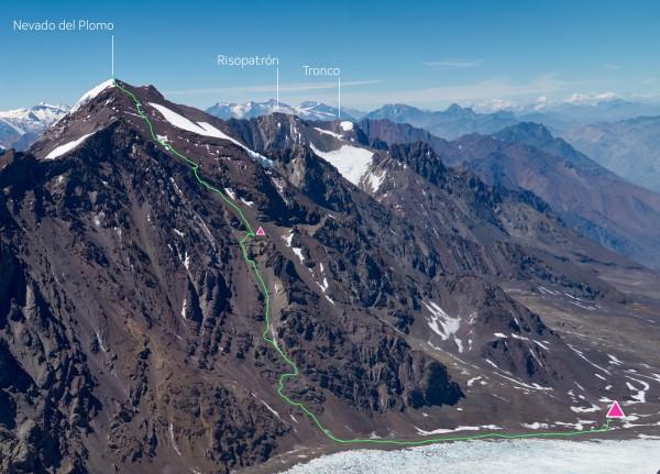 Ruta Cara Norte Nevado del Plomo