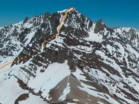 Canaleta vista desde el Parva del Inca