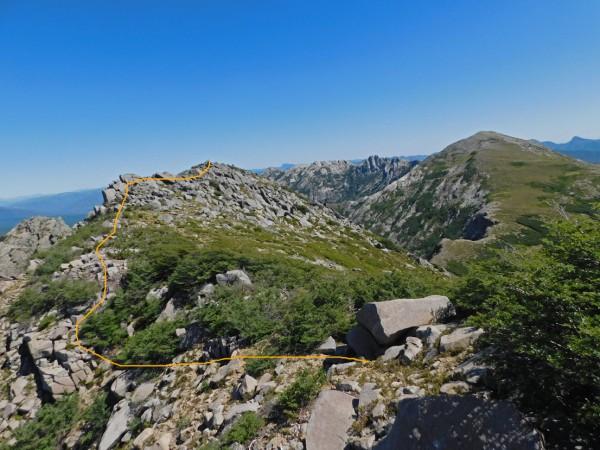 Vista desde la cumbre Norte