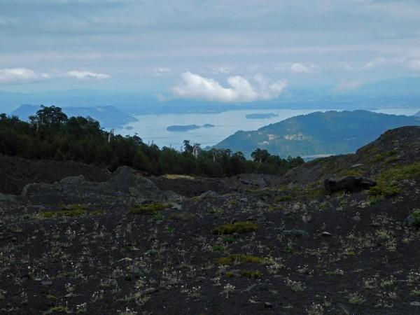 Vista hacia el lago Calafquén
