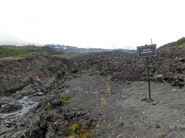 Desvío hacia los laguitos de Challupén