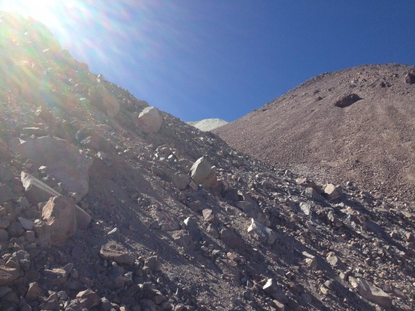Trepando por las rocas