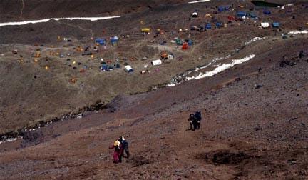 Campamento Plaza de Mulas.