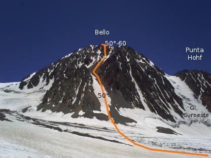Cara Oeste del Cerro Bello
