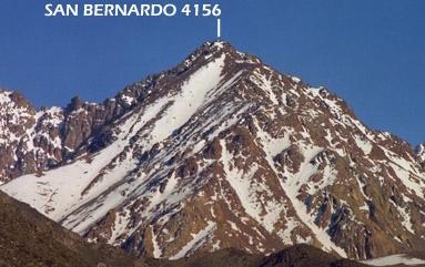 San Bernardo desde el camino a Vallecitos