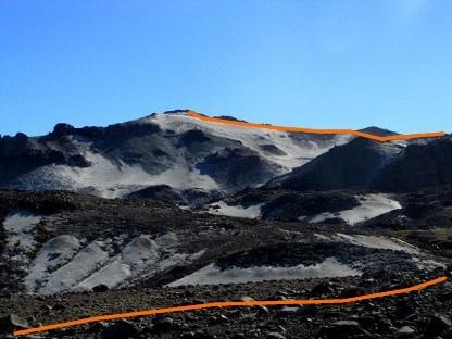 Cerro las Animas desde el sendero al portezuelo