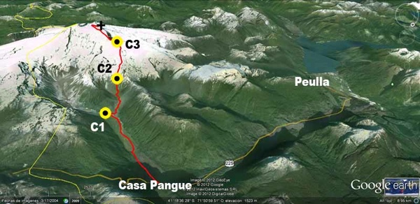 Imagen satelital de la ruta