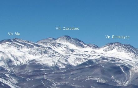 Volcán Cazadero y vecinos