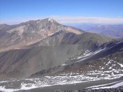 Vista desde el Norte al Sur de la cumbre El Libertador