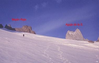 Plateau superior del glaciar de Río Blanco.