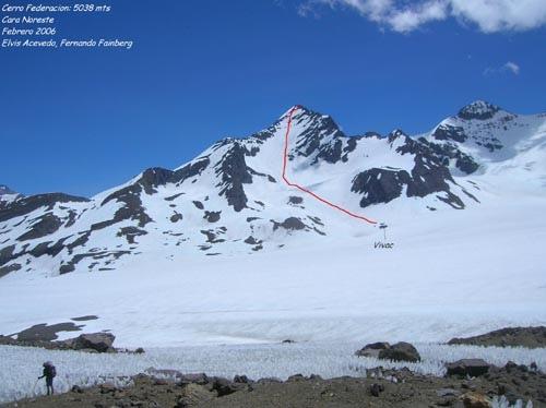 Cara noreste Cerro Federacion