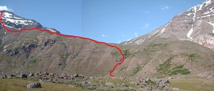 Ruta desde el plateau