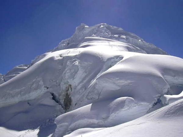 Vista hacia la cumbre desde el Campo Uno