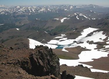 Vista laguna glaciar.