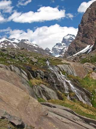 La cascada del río Polvaredas